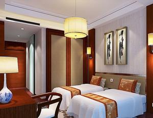 30平米中式风格老年公寓卧室装修效果图