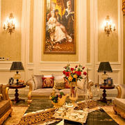 大型宫殿式法式风格豪宅客厅装修效果图