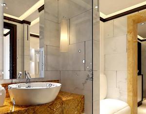 单身公寓后现代风格卫生间瓷砖装修效果图