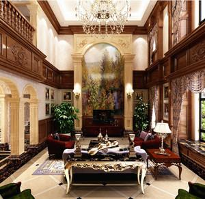 国外农村美式两层小别墅客厅图片大全