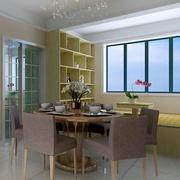 现代简约风格复式楼餐厅桌椅设计