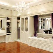 大型洋房韩式风格衣帽间整体衣柜装修效果图