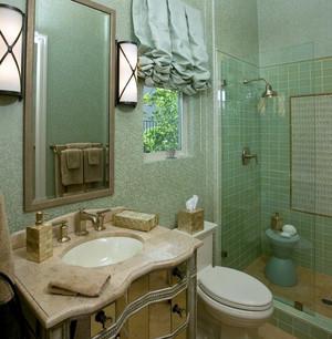 复式楼韩式清新风格卫生间瓷砖装修效果图
