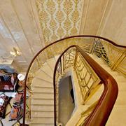 豪华大型复式楼旋转楼梯装修设计效果图
