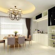 时尚200平两室一厅餐厅酒柜效果图片大全