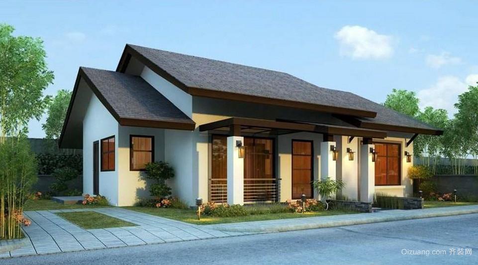 2016时尚新型100平农村一层房屋设计图