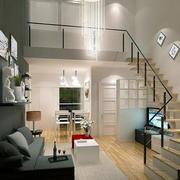 欧式简约风格复式楼楼梯装饰