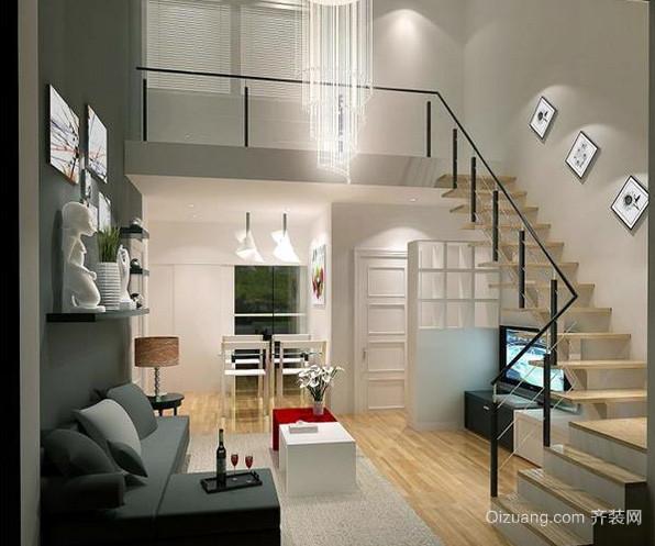 140平米欧式简约风格复式楼装修效果图
