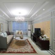 新古典客厅水晶吊灯欣赏