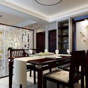 后现代风格餐厅深色桌椅装饰