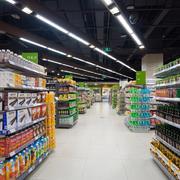 现代简约大超市地板装修设计效果图