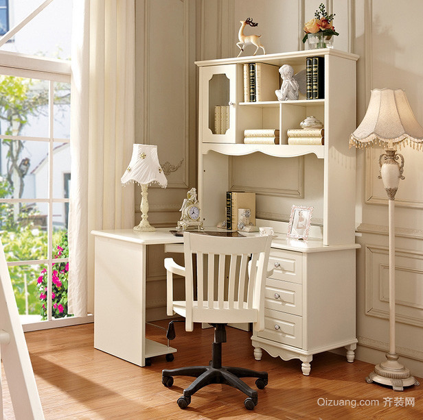 简欧式三居室儿童房书桌效果图