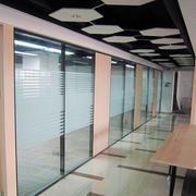 现代简约风格公司玻璃隔断墙装修效果图