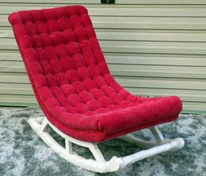 现代简约风格简易红色系懒人沙发装饰