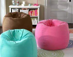 现代简约风格木桶式懒人沙发装修效果图