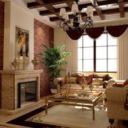 美式田园小客厅装修效果图欣赏