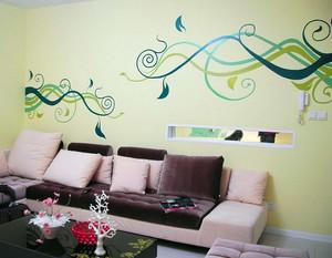 各式各样客厅、卧室手绘壁画装修效果图