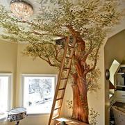 大型创意3D客厅手绘墙装饰