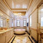欧式风格奢华别墅卫生间装饰