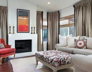 农村别墅美式简约风格客厅装修效果图