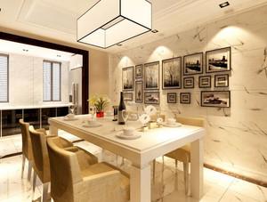三室一厅韩式风格清新餐厅装修效果图