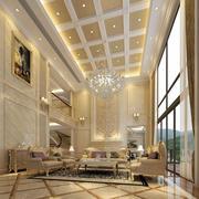 欧式风格独栋别墅客厅落地窗装饰