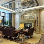 欧式奢华别墅吊顶客厅装修效果图欣赏