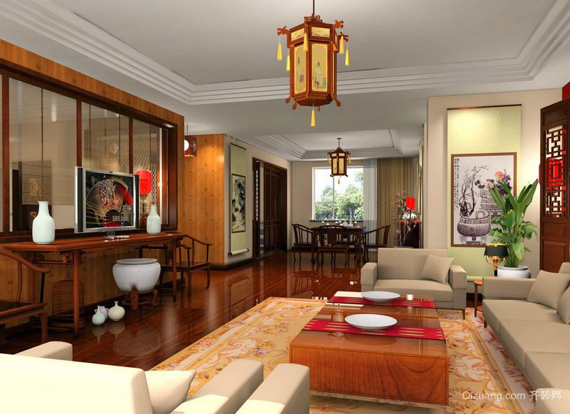 中式高贵老年公寓客厅装修效果图欣赏