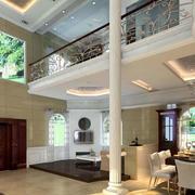 欧式风格复式别墅客厅装饰