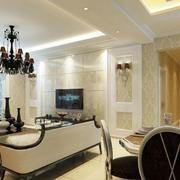 暖色调客厅设计造型图
