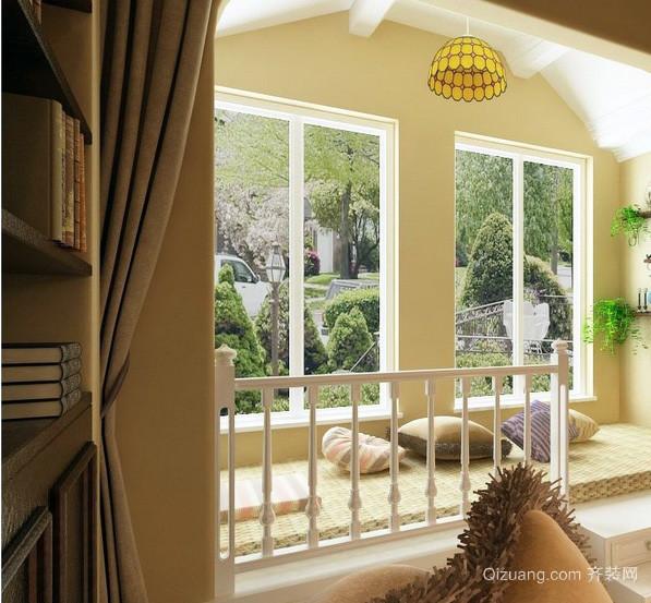 田园风102平米两室一厅阳台榻榻米装修图