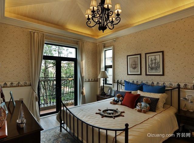 农村别墅美式地中海风格卧室装修效果图