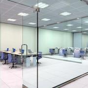 90平米都市简约风格办公室玻璃墙装修效果图
