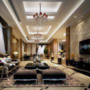 欧式现代100平米小户型公寓室内简约风格装修效果图