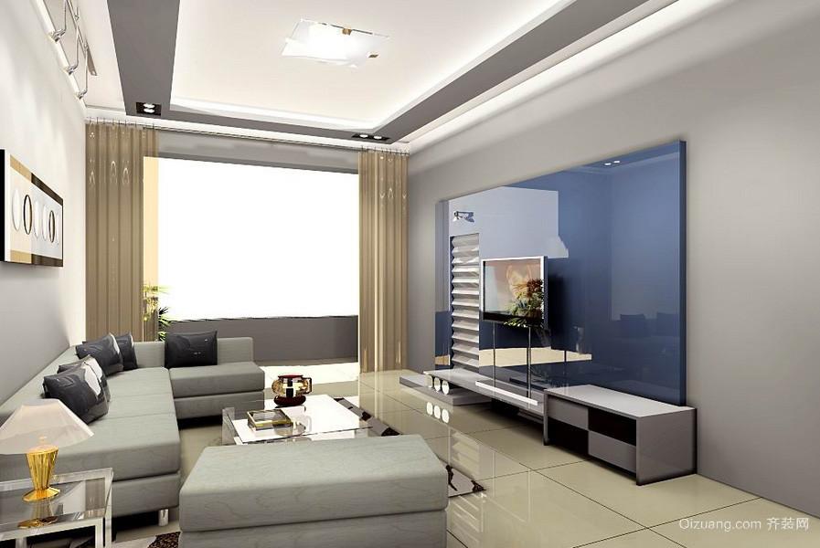 现代简约100平米客厅装修效果图欣赏