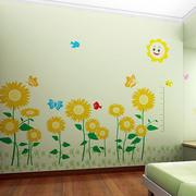 现代简约风格儿童房手绘背景墙装饰