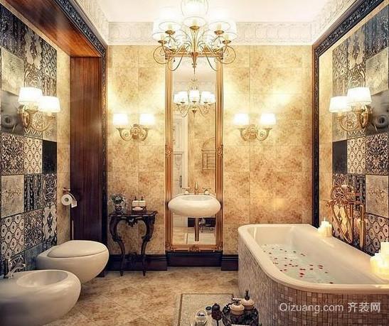 欧式风格奢华大气别墅卫浴装修效果图