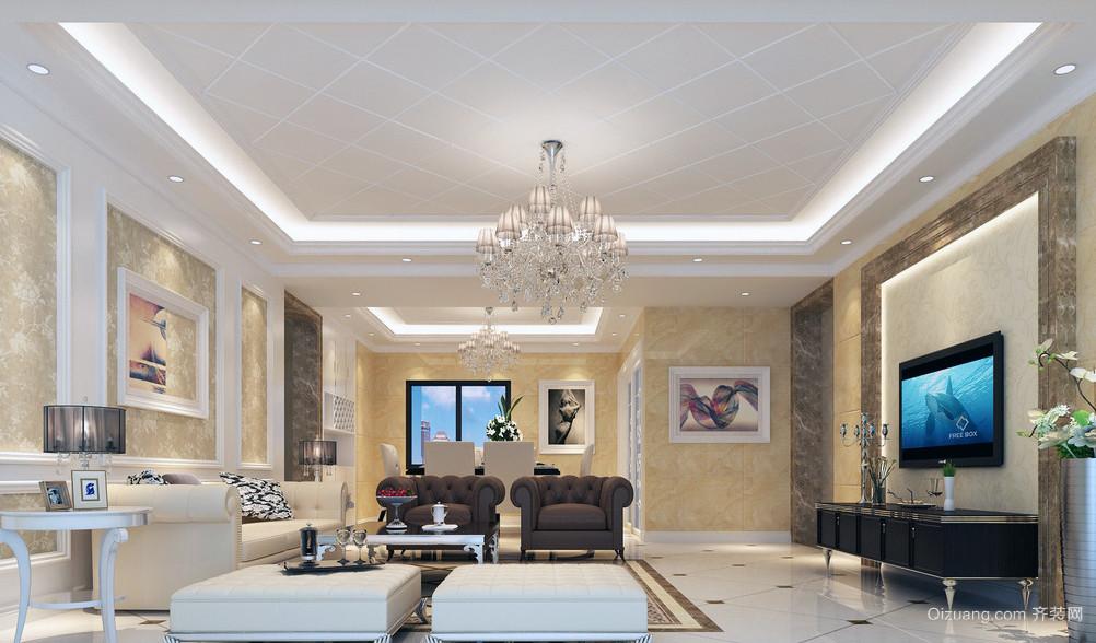110平朴实典雅简约风格室内装修公寓效果图