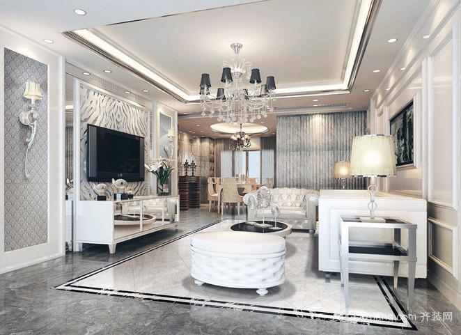 110平米小户型公寓室内简约风格装修效果图