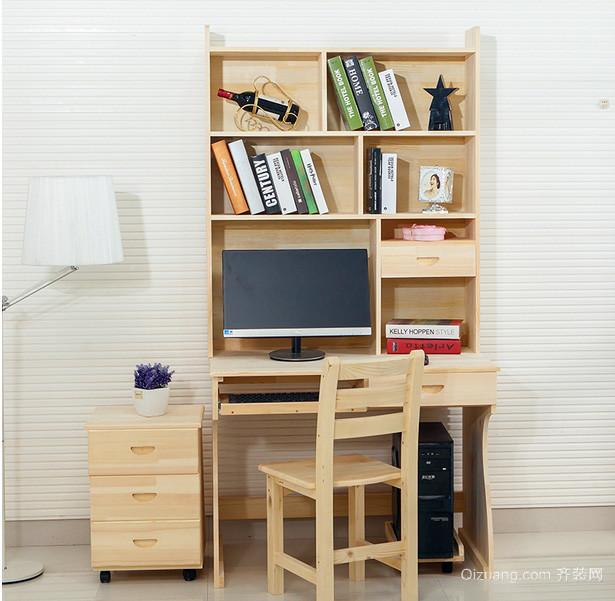 90平米两居室家居儿童房实木书桌效果图