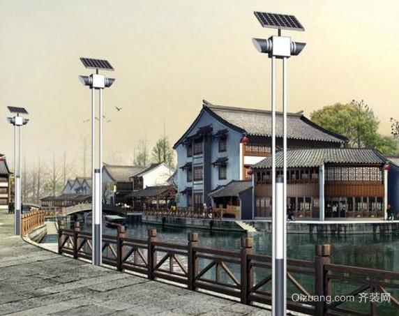 现代简约风格江南小镇太阳能灯饰装修图