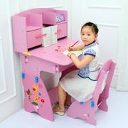 3-10岁小女孩粉色儿童房书桌装修效果图