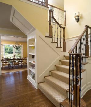 2016大户型精美的现代室内实木楼梯装修效果图