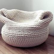 北欧风格清新藤制懒人沙发椅装修效果图