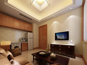 日式简约风格公寓式住宅客厅装修效果图
