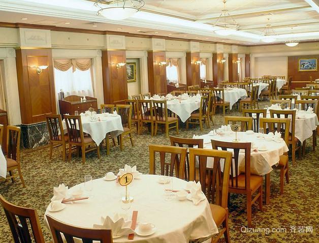 120平米美式简约复古风格饭店装修效果图