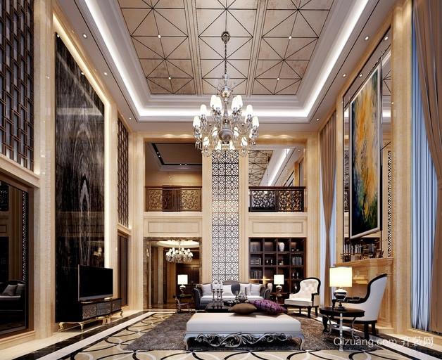 200平米欧式奢华独栋别墅室内装修效果图