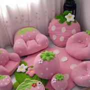 现代简约风格粉色系整套懒人沙发装修图