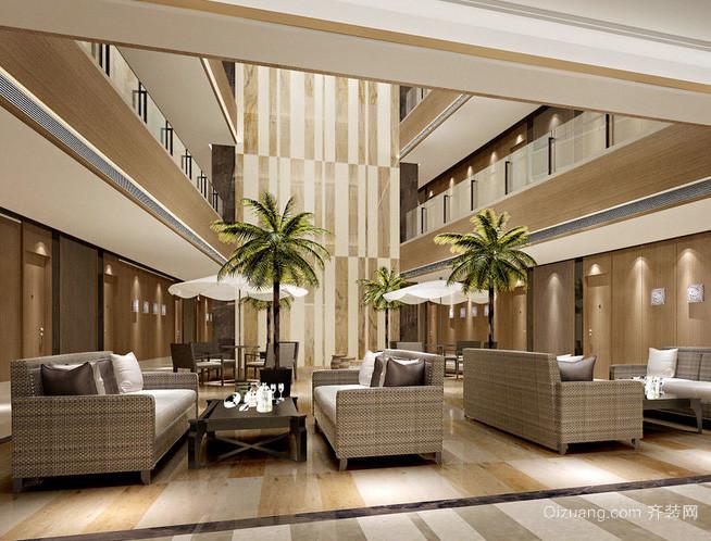 大型欧式简约风格住宅式公寓休息间装修效果图