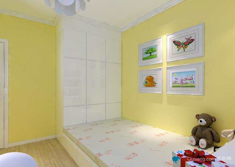 三居室童真色调儿童房装修效果图